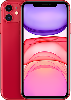 Logo-iPhone 11 Red